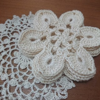 モチーフ編み コースター(雑貨)