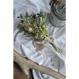 スモークツリーとアンティーク紫陽花のgreen swag・ドライフラワースワッグ(ドライフラワー)