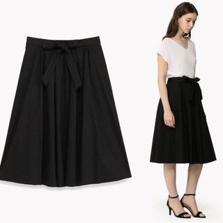 セオリーリュクス(Theory luxe)の美品 18SS セオリーリュクス CRUNCH 麻 リネン スカート (ひざ丈スカート)