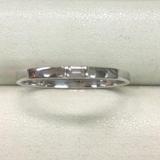 ★サイズ20号★プラチナPt900角ダイヤモンドリング★0.10ct★(リング(指輪))