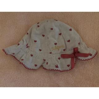 ジェラートピケ(gelato pique)のジェラートピケ   ハート うさぎ 帽子(帽子)