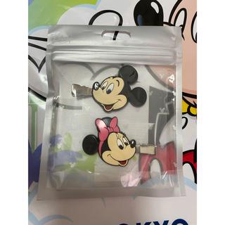 ディズニー(Disney)の新品 ディズニーストア ミッキー   ミニー ヘアクリップ ヘアピン(ヘアピン)