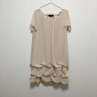 アンタイトル(UNTITLED)の結婚式♡パーティー♡謝恩会使えるワンピース♡くすみピンク薄ピンク(ミディアムドレス)
