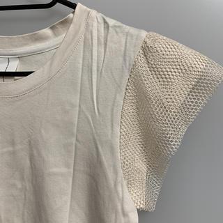 美品 ニトカ 袖レース Tシャツ
