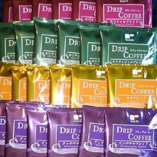 ティーライフ(Tea Life)のドリップコーヒー 4種 24袋 キリマンジャロ モカ グァテマラ プレミアム(コーヒー)