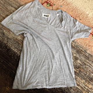 エムエムシックス(MM6)のmm6 エムエムシックス アシンメトリーTシャツ S 穴あきあり(Tシャツ(半袖/袖なし))
