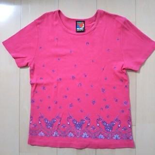 ミッキーマウス(ミッキーマウス)のディズニー MICKEY コーラルピンク 半袖Tシャツ(Tシャツ(半袖/袖なし))