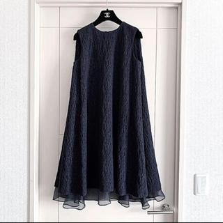アドーア(ADORE)の新品同様‼️ADORE アドーア ジャガード織り ふんわりAラインワンピース(ひざ丈ワンピース)