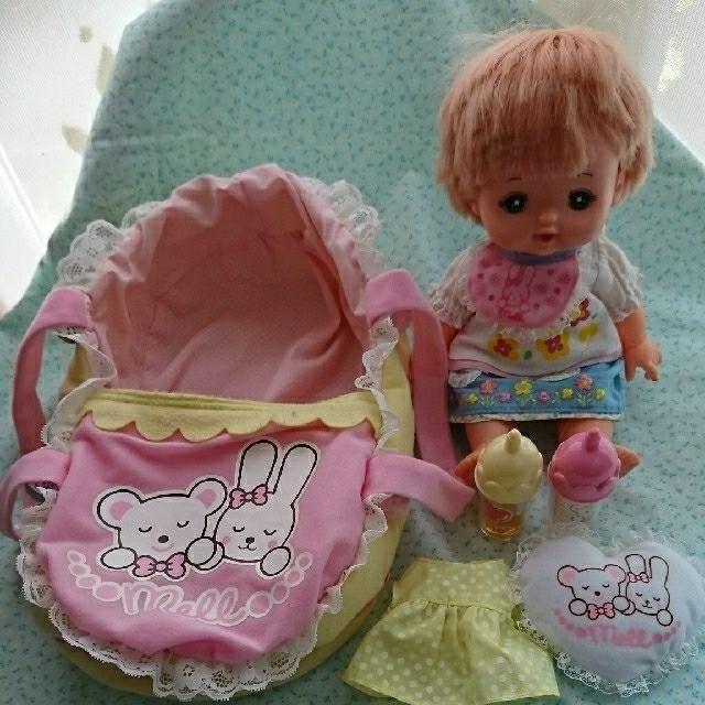 PILOT(パイロット)のメルちゃん&クーファンセット キッズ/ベビー/マタニティのおもちゃ(ぬいぐるみ/人形)の商品写真