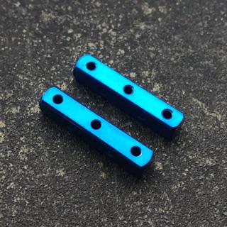 ミニ四駆 マスダンパー (スクエアx2) ブルー(模型/プラモデル)