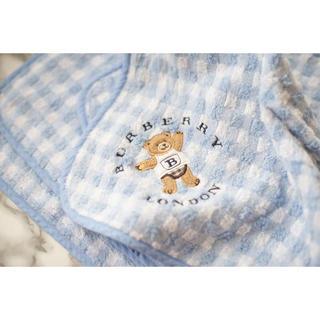 バーバリー(BURBERRY)のバーバリーベビーおくるみタオル赤ちゃん出産準備(おくるみ/ブランケット)