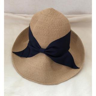 エストネーション(ESTNATION)のアシーナニューヨーク 帽子(麦わら帽子/ストローハット)