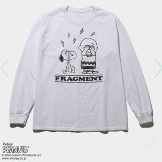 フラグメント(FRAGMENT)のXL フラグメント スヌーピー ピーナッツ 長袖 白(Tシャツ/カットソー(七分/長袖))