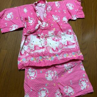 サンリオ(サンリオ)のキティちゃんの可愛い甚平(*´∇`*)80㎝(甚平/浴衣)