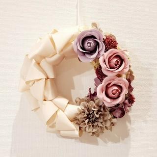 お花いっぱい フレグランス リボンリース(リース)