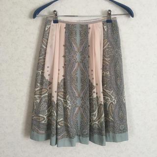 アルファキュービック(ALPHA CUBIC)の花柄スカート ペイズリー柄スカート (ひざ丈スカート)