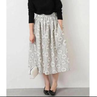 イエナ(IENA)のIENA ALBINI フラワージャガードスカート 40(ロングスカート)