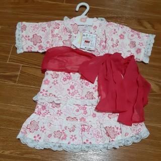 90甚平浴衣風スカートドレス3点セット(和服/着物)