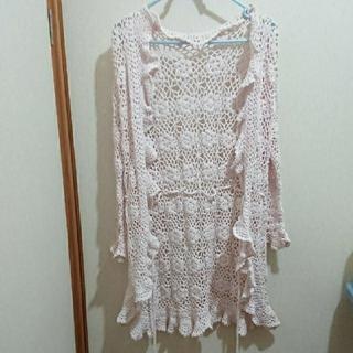 リズリサ(LIZ LISA)のLIZ LISA  花模様編み カーディガン 羽織り 春夏(カーディガン)