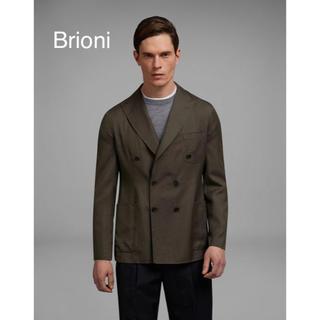 グッチ(Gucci)のブリオーニ ダブルブレストジャケット ダークグリーン50(テーラードジャケット)
