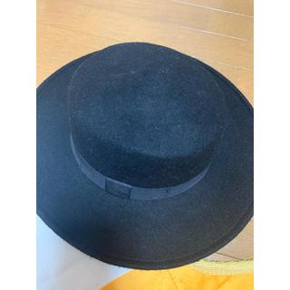 ジーユー(GU)のジーユー  黒 ハット 帽子(ハット)