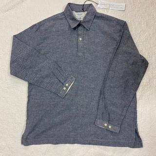 バックナンバー(BACK NUMBER)のバックナンバー WASHI DENIM 和紙デニム ダンガリーポロシャツ L(ポロシャツ)