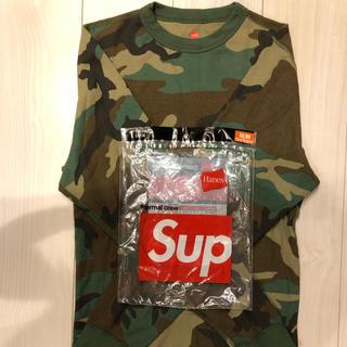 シュプリーム(Supreme)のsupreme hanes thermal camo crew(Tシャツ/カットソー(七分/長袖))