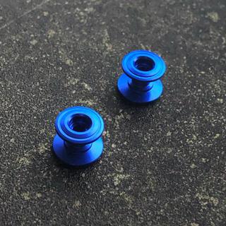ミニ四駆 13-12mm 2段アルミローラー x2 ブルー(模型/プラモデル)