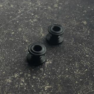 ミニ四駆 13-12mm 2段アルミローラー x2 ブラック(模型/プラモデル)