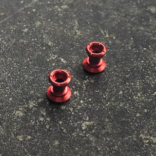 ミニ四駆 9-8mm 2段アルミローラー x2 レッド(模型/プラモデル)