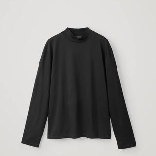 コス(COS)のCOTTON JERSEY MOCK-NECK TOP モックネックTシャツ(Tシャツ/カットソー(七分/長袖))