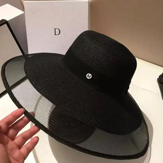 エイミーイストワール(eimy istoire)の新品👜デザイナーファッションシースルー女優帽(麦わら帽子/ストローハット)