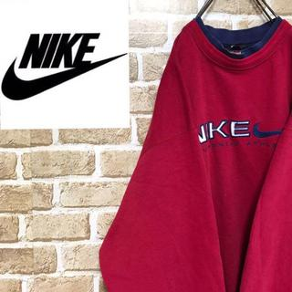 ナイキ(NIKE)の【ナイキ】90sトレーナービックサイズビック刺繍ロゴ あずき色裏地あり(その他)