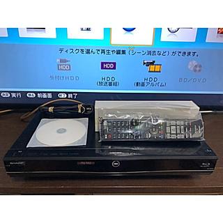 アクオス(AQUOS)のAQUOS BD-S580 HDD新品1TB換装 リモコン新品(ブルーレイレコーダー)