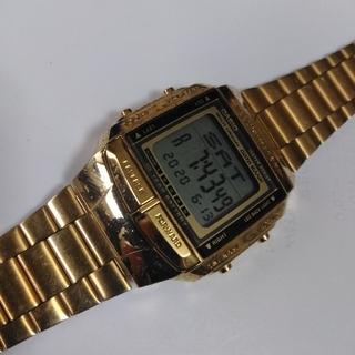 カシオ(CASIO)のCASIO DB-360(GOLD )調整可能メタルバンド 男女共用(腕時計(デジタル))
