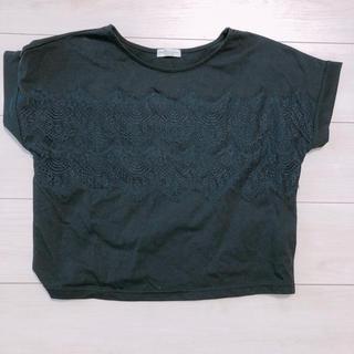 アースミュージックアンドエコロジー(earth music & ecology)のearthmusic & ecology Tシャツ 半袖 黒 (Tシャツ(半袖/袖なし))