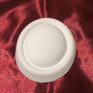 トーク帽 土台 オフホワイト  結婚式(ハンチング/ベレー帽)