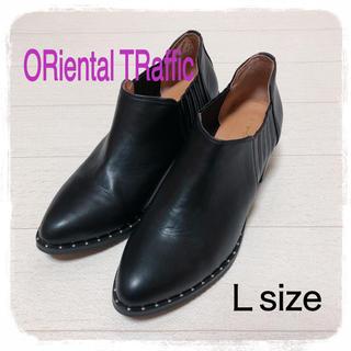 オリエンタルトラフィック(ORiental TRaffic)のORiental ♥ お洒落 サイドゴア スタッズ ショートブーツ(ブーツ)