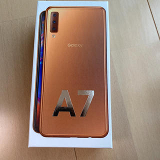 ギャラクシー(Galaxy)の未開封 新品 未使用 Galaxy A7 ゴールド 64 GB その他(スマートフォン本体)