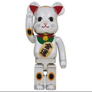 メディコムトイ(MEDICOM TOY)のBE@RBRICK 招き猫 銀メッキ 弐 1000%  (その他)