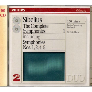 フィリップス(PHILIPS)の2CD  シベリウス 交響曲集(第1・2・4・5番)コリン・デイヴィスBSO(クラシック)