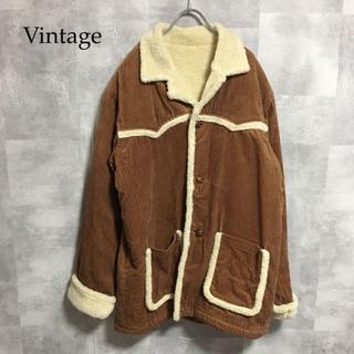 Vintage コーデュロイ ボアジャケット(カバーオール)