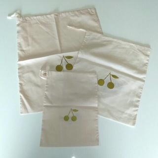 ボンポワン(Bonpoint)のBONPOINT ボンポワン 巾着 ピンク 大中小 3枚セット(体操着入れ)