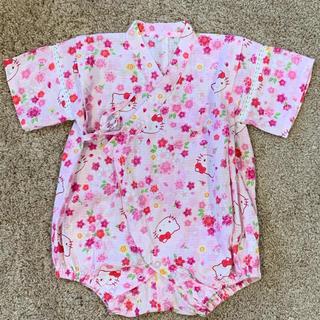 サンリオ(サンリオ)の80 cm 甚平 浴衣 ロンパース 女の子 キティ サンリオ(甚平/浴衣)