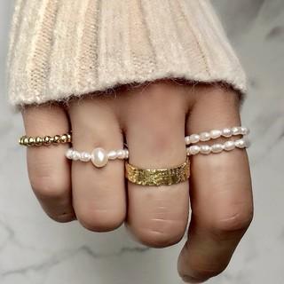 アメリヴィンテージ(Ameri VINTAGE)の上品 淡水パール リング 指輪 バロックパール ライスパール(リング(指輪))