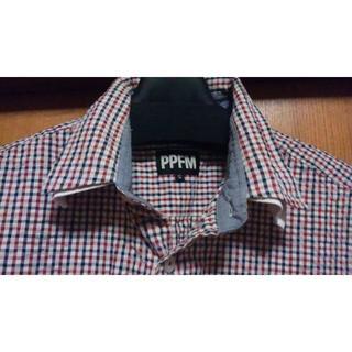 ピーピーエフエム(PPFM)のPPFM チェック シャツ 半袖シャツ ユニオンジャック ロンドン S(シャツ)