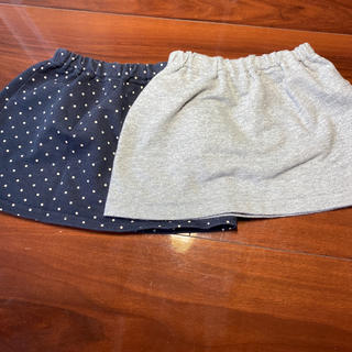 ムジルシリョウヒン(MUJI (無印良品))の無印良品 スカート 80 2枚セット(スカート)
