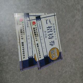 奈良健康ランド チケット 2枚(その他)
