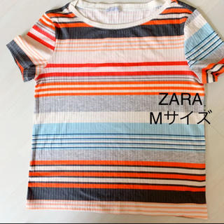 ザラ(ZARA)のZARAザラ マルチボーダーTシャツ 半袖最終値下げ(Tシャツ(半袖/袖なし))