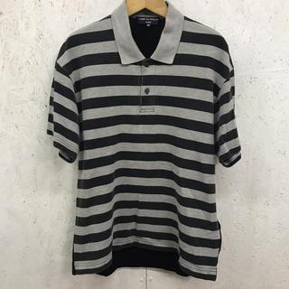 コムデギャルソン(COMME des GARCONS)のCOMME des GARCONS HOMME ポロシャツ ボーダー切替(ポロシャツ)
